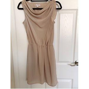 GAP Nude Smocked-Waist Shirt Dress